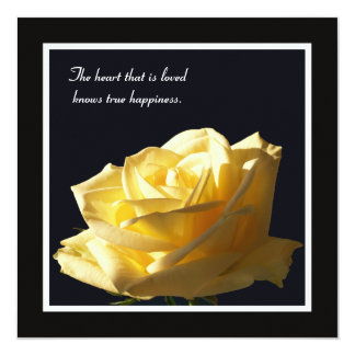 "Yellow Rose Vow Renewal Invitation 5.25"" Square Invitation Card"