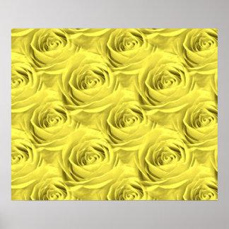 Yellow Rose Wallpaper Pattern Poster