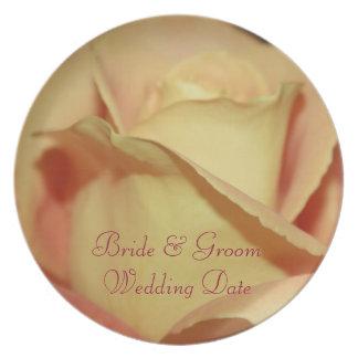 Yellow Rose Wedding Plate Template