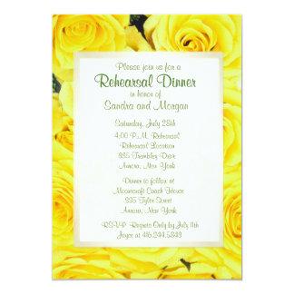 Yellow Rose Wedding Rehearsal Dinner 13 Cm X 18 Cm Invitation Card