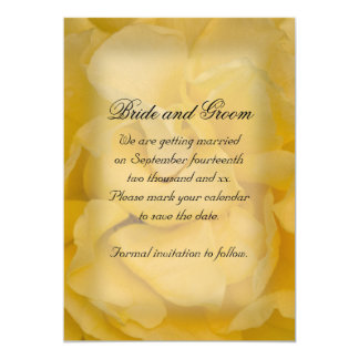 "Yellow Rose Wedding Save the Date Announcement 5"" X 7"" Invitation Card"