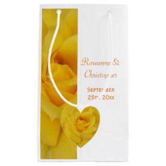 Yellow Rose Wedding Small Gift Bag