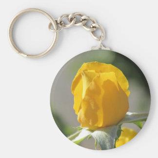 Yellow Rosebud Key Ring