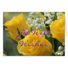 Yellow Roses 2007-b- customise for any occasion Card