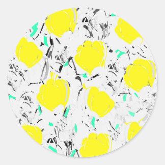 Yellow roses 2 classic round sticker