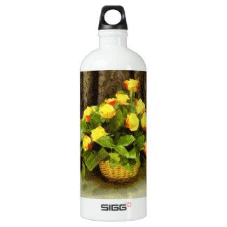 Yellow roses basket painting SIGG traveller 1.0L water bottle