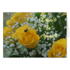 Yellow Roses & Bumble Bee- customise any occasion Card