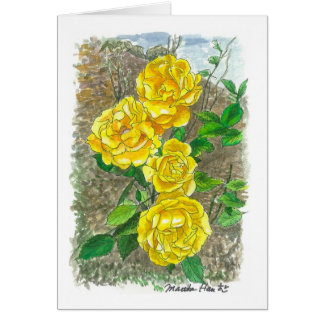 Yellow roses card
