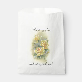 Yellow Roses Favour Bag