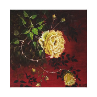 Yellow Roses Gallery Wrapped Canvas