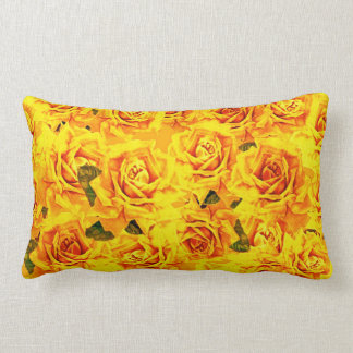 Yellow Roses lumbar pillow