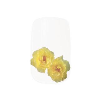 Yellow Roses Minx Nail Art