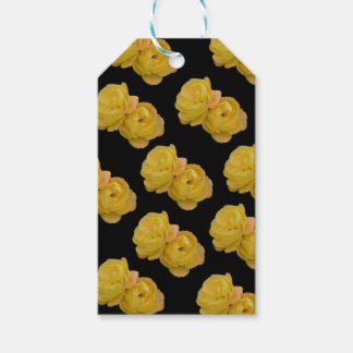 Yellow Roses On Black,_ Gift Tags