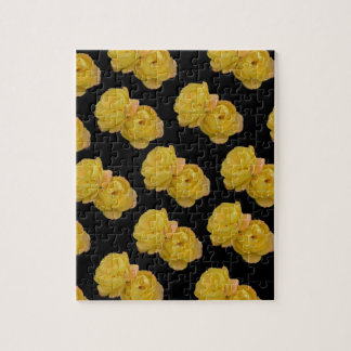 Yellow Roses On Black,_ Jigsaw Puzzle