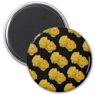 Yellow Roses On Black,_ Magnet