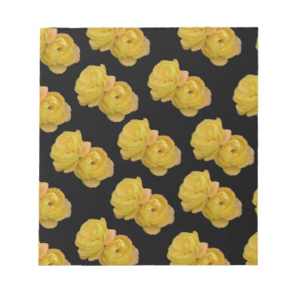 Yellow Roses On Black,_ Notepad