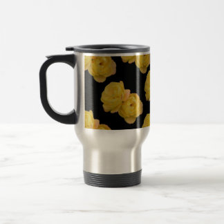 Yellow Roses On Black,_ Travel Mug