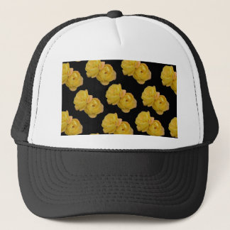 Yellow Roses On Black,_ Trucker Hat