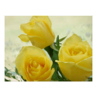 Yellow Roses Prints Poster
