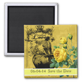 Yellow Roses Save the Date Magnet