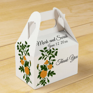 Yellow Roses Wedding or Anniversary Celebration Favour Box
