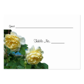 Yellow Roses Wedding Table Place Cards Business Card Templates