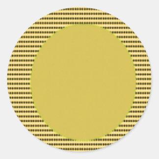 Yellow Round choice BLANKS : Easy to Write Round Sticker