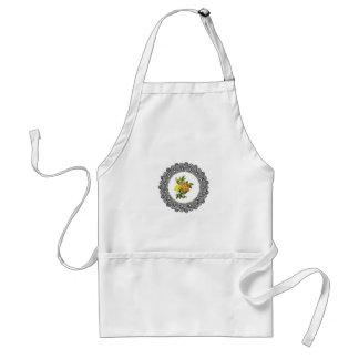 yellow round flowers standard apron