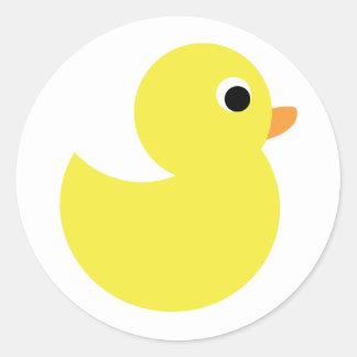 Yellow Rubber Duck Classic Round Sticker
