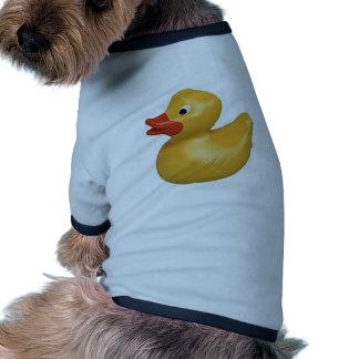 yellow rubber duck design ringer dog shirt