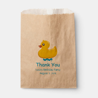 yellow rubber duck- Thank you Favour Bag