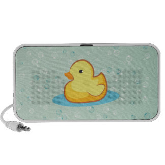 Yellow rubber duck with bubble speaker