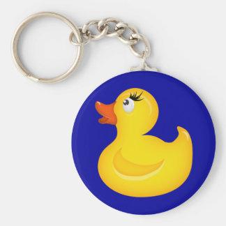 Yellow Rubber Duckies Key Chain
