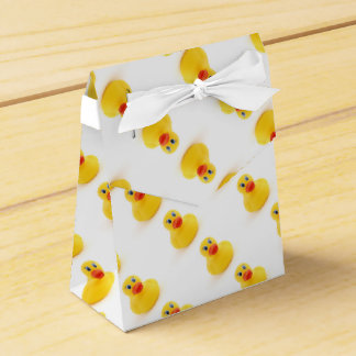 Yellow Rubber Ducks 1st Birthday Favour Box