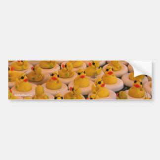 Yellow Rubber Ducks Funny Photo Bumper Sticker