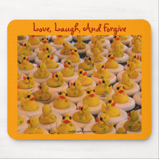 Yellow Rubber Ducks Inspirational Quote Mousepad