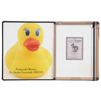 Yellow Rubber Ducks iPad Cover