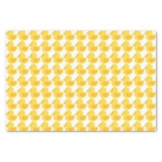 Yellow Rubber Ducky Baby Shower Tissue Paper