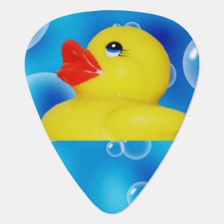 Yellow Rubber Ducky in Bubbles Plectrum