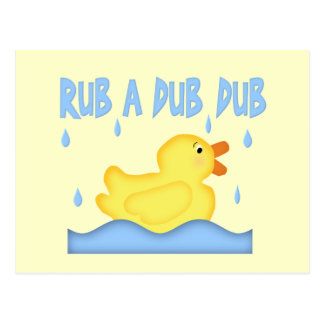 Yellow Rubber Ducky Rub A Dub Dub Postcard