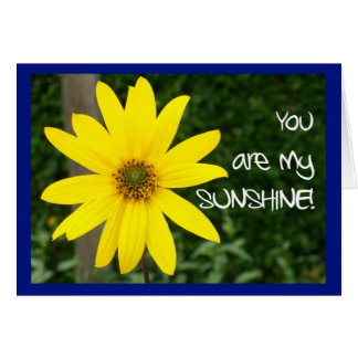 Yellow Rudbekia 'Missing You!' Greeting Card