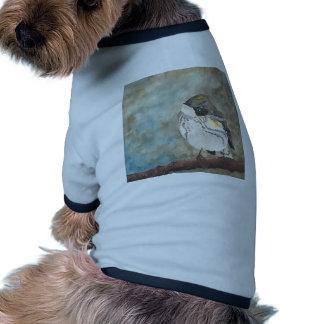 Yellow-rumped Warbler Ringer Dog Shirt