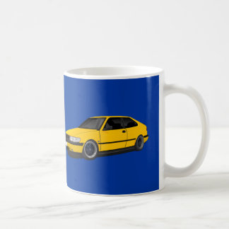 Yellow Saab 900 NG Coffee Mug