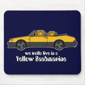 yellow saabmarine mousepad