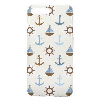 Yellow Sailboat Pattern iPhone 7 Plus Case