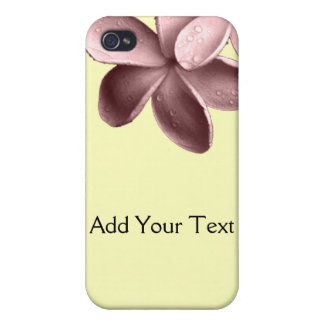 Yellow Sand and Pink Plumeria iPhone 4 Cover