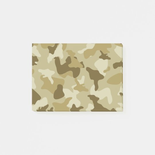 Yellow sand camo camouflage army pattern post-it notes