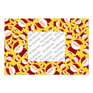 Yellow santa pattern photographic print
