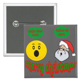 Yellow santa smilie with santa does exist smilie pins