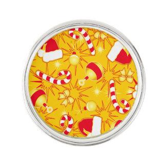 Yellow - Santa's cap Lapel Pin